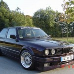 Black BMW E30 on BBS RS