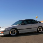 White DA Acura Integra on Black BBS RS