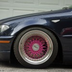 Blue BMW E46 on Pink BBS RS