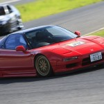 Red Acura NSX on Gold BBS LM F1 Championshop Edition