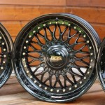 BBS RC 090 (BMW Style 5) Black with Gold Logos & Gold Bols