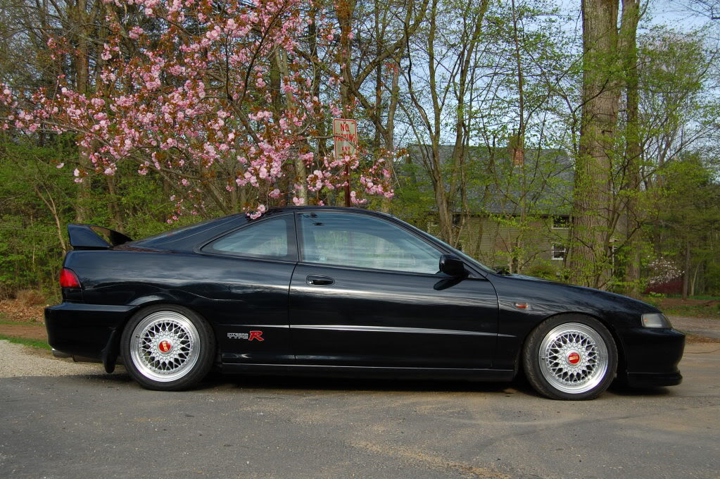 Black Acura Integra Type-R on BBS RS with Red Logos