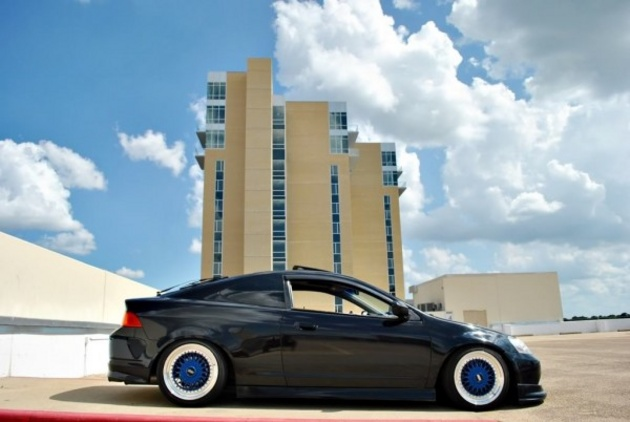 Black Acura RSX DC5 on Blue BBS RS