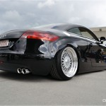 Black Audi TT on BBS RS