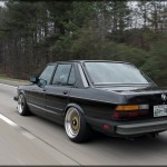 Black BMW 535i E28 on Gold BBS RS