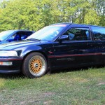 Black Honda Civic Si EF Gold BBS RM