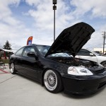 Black Honda Civic Si EK Coupe on BBS RS
