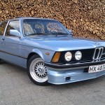 Blue BMW 323i E21 on BBS RS with Alpina Goodies