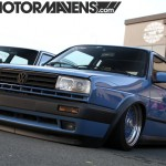 Blue MK2 Volkswagen Golf on Blue BBS RS