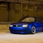 Blue Volkswagen Jetta MK4 on Blue BBS RS