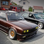 Brown BMW E30 on Gold BBS RS