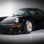 Classic Black Porsche 911 on Gold BBS RS