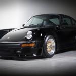Classic Black Porsche 911 on Gold BBS RS