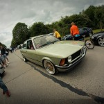 Green BMW E21 on Gold BBS RS