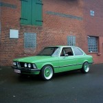 "Green BMW E21 Euro Spec on 16"" Green BBS RS"