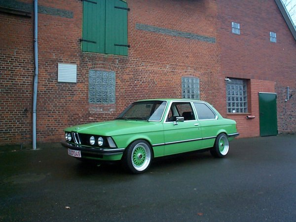 Green BMW E21 Euro Spec on Green BBS RS