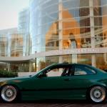 "Green BMW M3 E36 on 17"" BBS RS"
