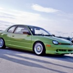 Green Dodge Neon on Silver BBS RS