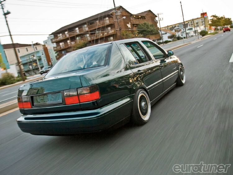 Green Volkswagen Jetta GL MK3 on Green BBS RS