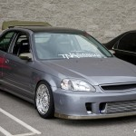 "Grey Honda Civic EK Hatchback 16"" Fully Polished BBS RS"