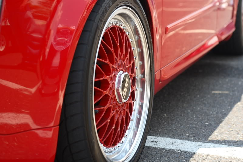 """Red Audi S4 B6 on Red 18"""" BBS Super RS"""
