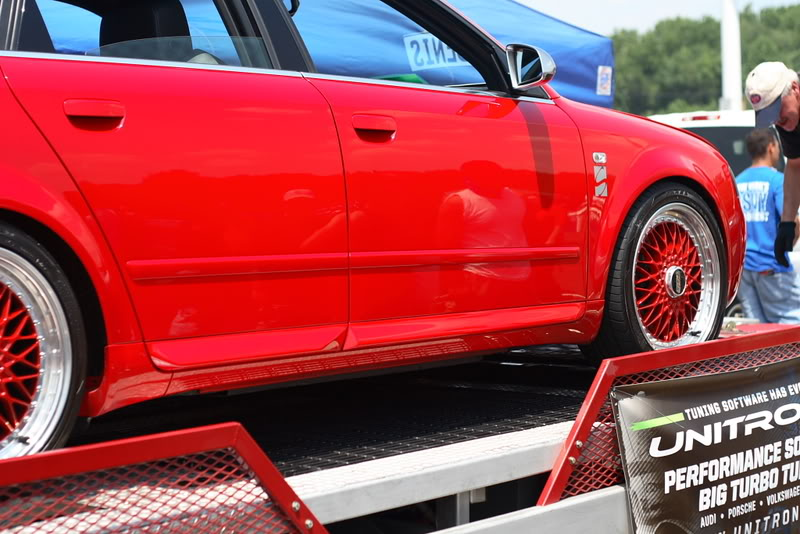 "Red Audi S4 B6 on Red 18"" BBS Super RS"
