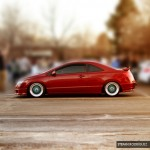 Red Honda Civic Si Coupe FG2 on 17