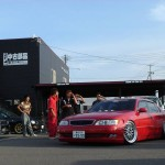 Red Toyota Aristo GS300 on BBS LM VIP Style