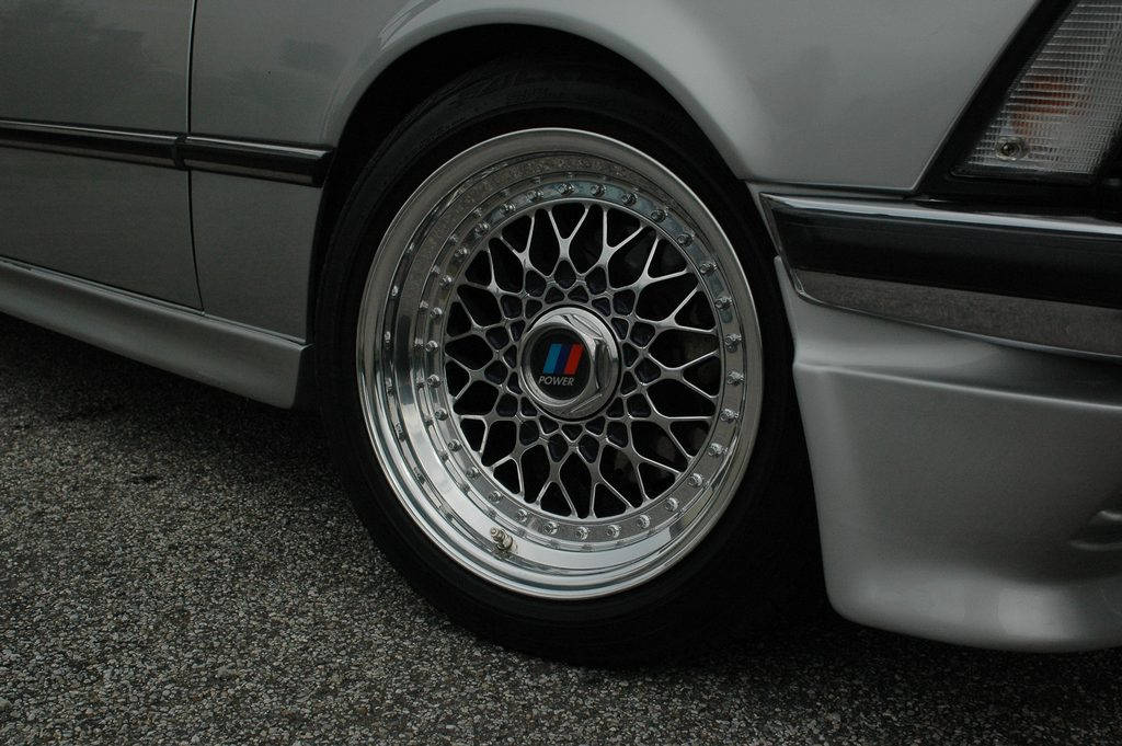 Polished BBS RS with Black Windows