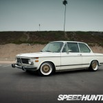 White BMW 2002 on Gold BBS RM