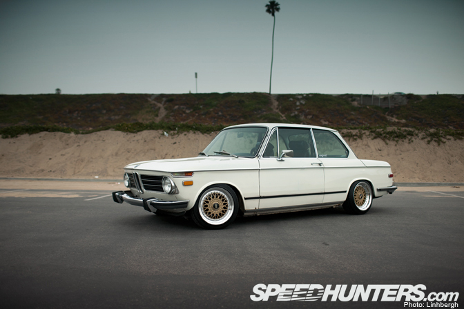 White Bmw 2002 On Gold Bbs Rm Bbs Rs Zone