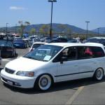 White Honda Odyssey on BBS RS