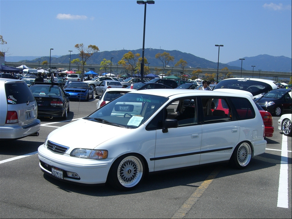 White Honda Odyssey on BBS RS