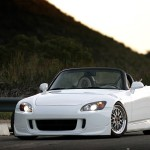 White Honda S2000 AP2 on BBS LM