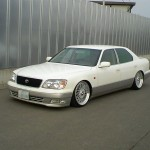 White Toyota Celsior Lexus LS400 UCF20 on BBS Super RS