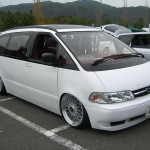 White JDM Toyota Estima Previa on BBS Super RS