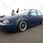 Blue Volkswagen Golf MK4 on Black BBS RS