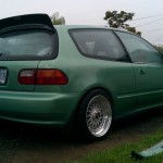 Green EG Honda Civic on BBS RS
