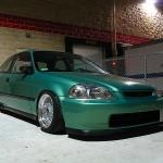 Midori Green Honda Civic EK Hatch on BBS RM