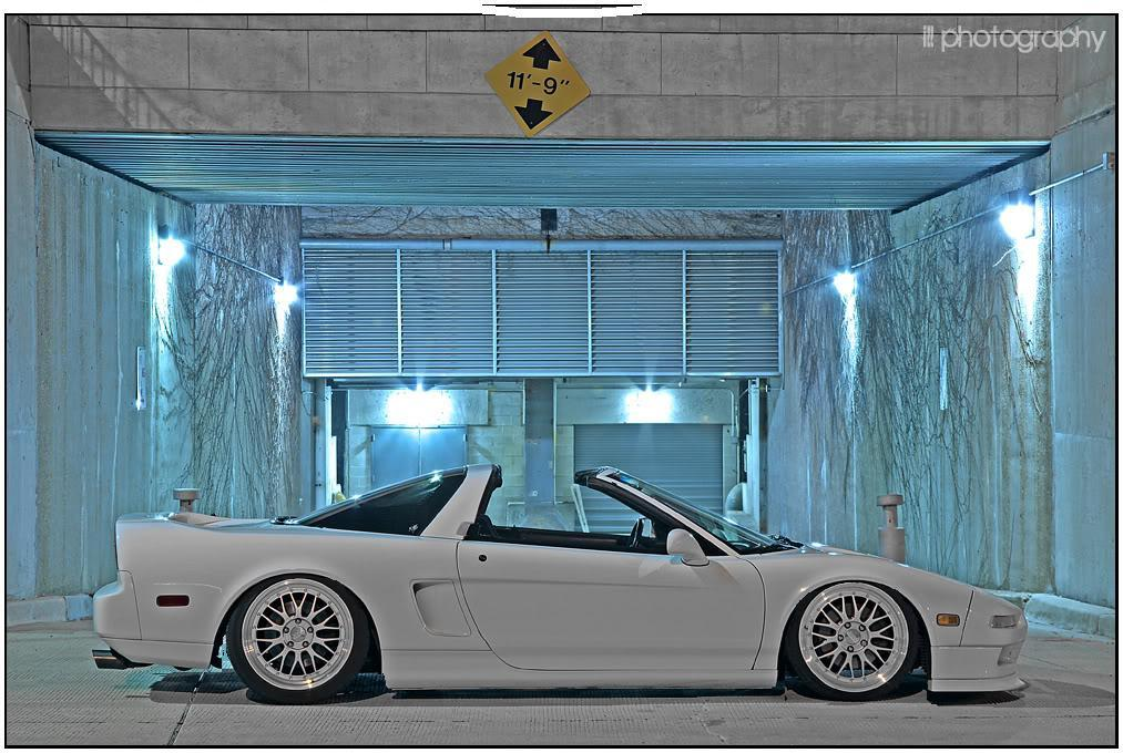 White Acura NSX NA1 on BBS LM with  Chrome Caps