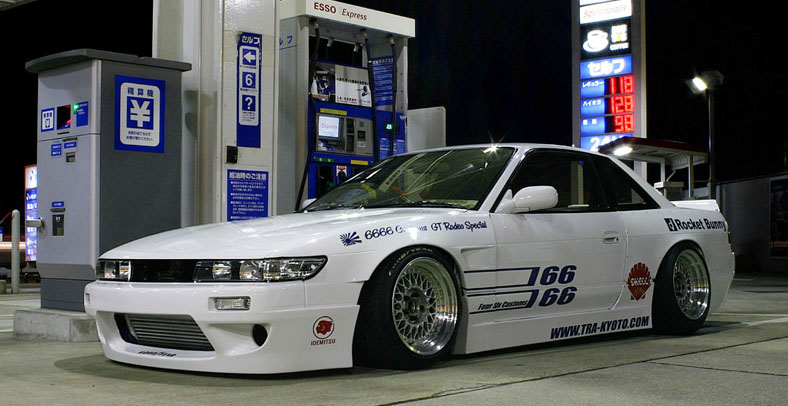 Rocket Bunny S13 Nissan Silvia on BBS RS