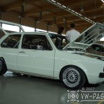 White Volkswagen Rabbit MK1 on BBS RS