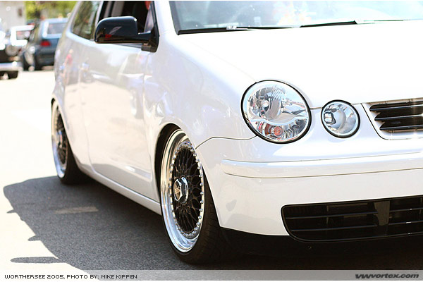 White Volkswagen Lupo on Black BBS RS