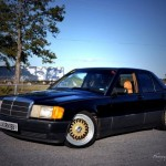 Black Mercedes Benz 190e 2.3 W201 on 16
