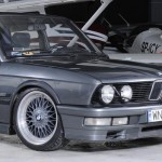 Grey BMW E28 on Grey BBS RC