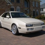 Pearl White Volkswagen Corrado on Silver BBS RS