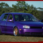Purple Volkswagen Golf MK4 on Copper BBS RS