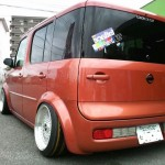 "BBS RS - Red Nissan Cube on 16"" Silver BBS RS"