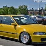 Yellow Honda Civic EG Hatchback on 16