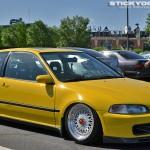 Yellow Honda Civic EG Hatchback on 16